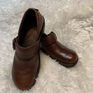 Born Sz 7 1/2 Glendell Leather Clog Brown